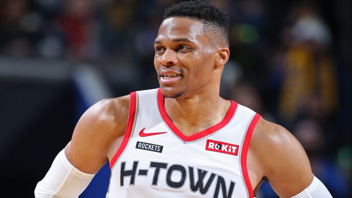 Westbrook con la maglia dei Rockets