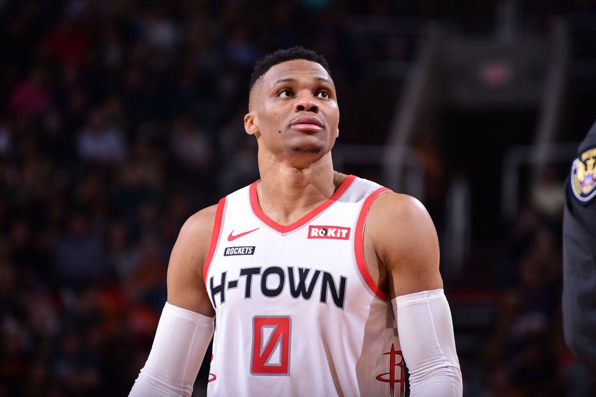 Westbrook in azione coi Rockets