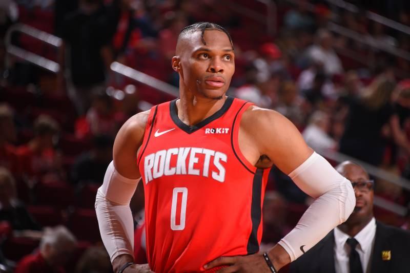 Russel Westbrook in maglia Rockets