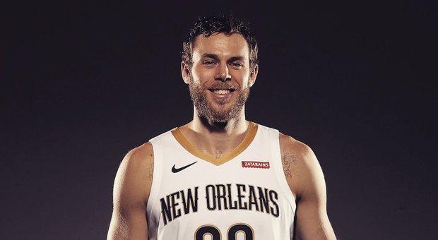 Nicolò Melli con la maglia dei Pelicans