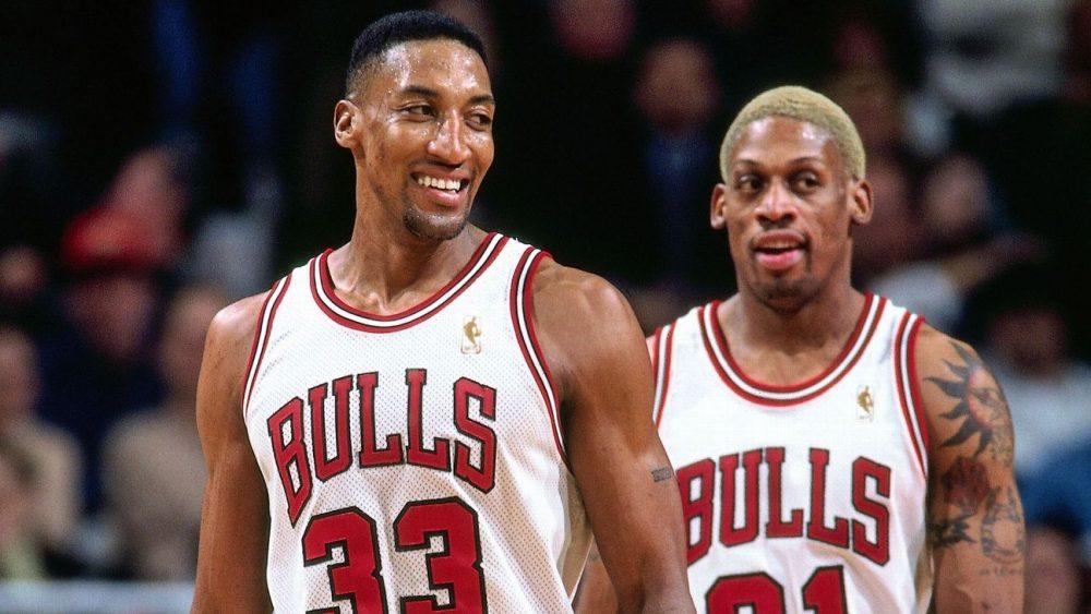 Pippen e Rodman con i Chicago Bulls