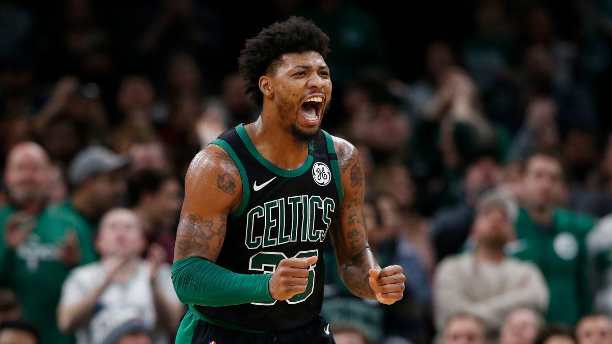 Smart con la maglia dei Celtics
