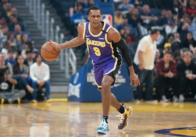 Rondo in maglia Lakers