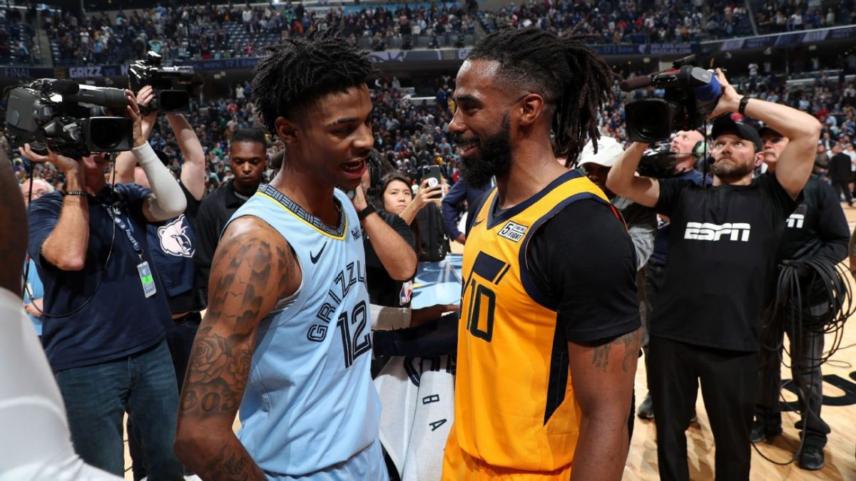 Ja Morant and Mike Conley