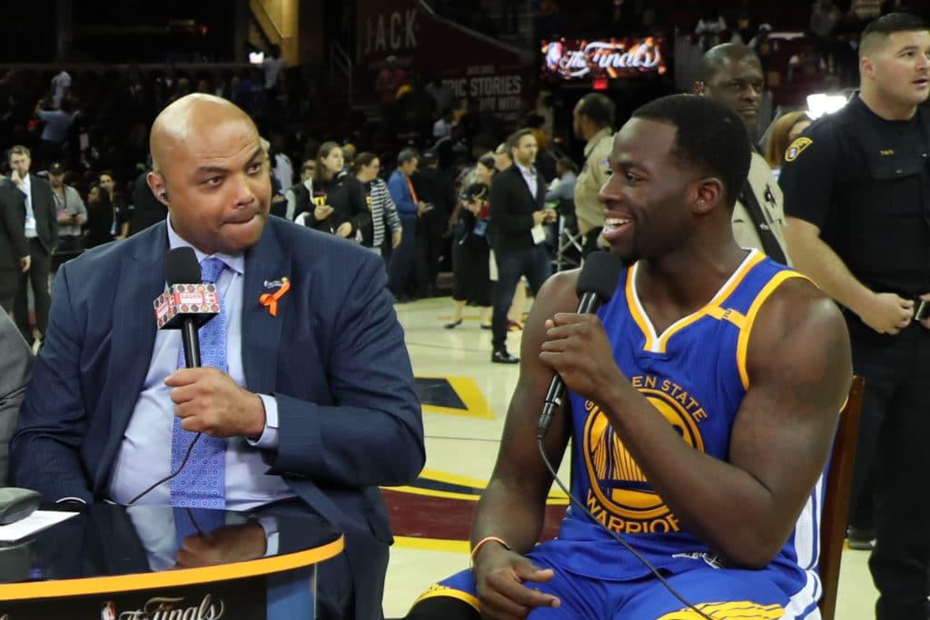 Charles Barkley durante un post gara con NBA TV