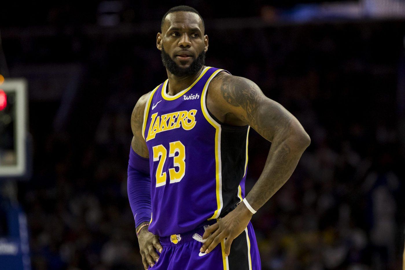 Lebron in maglia Lakers