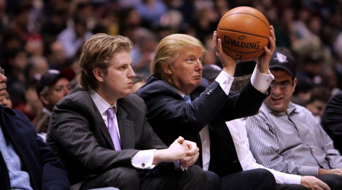 Donald Trump in arena