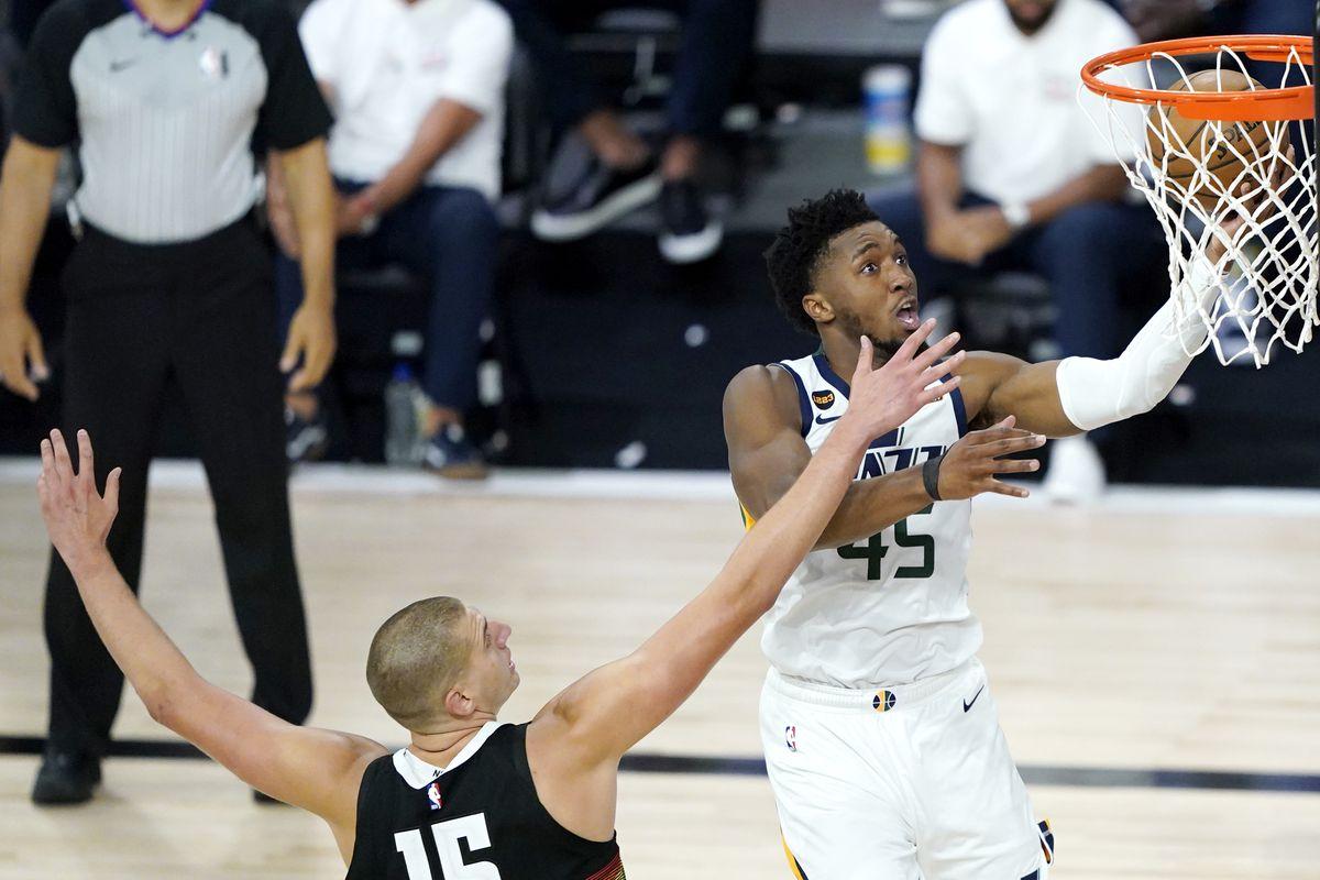 Donovan Mitchell contro i Denver Nuggets