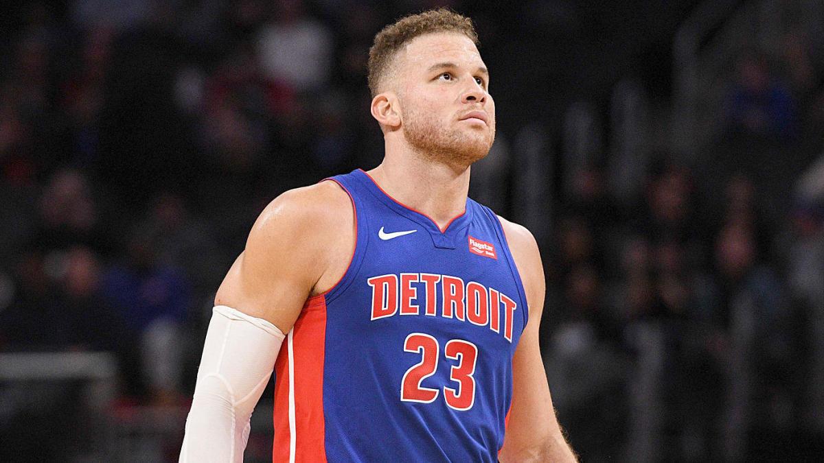 Griffin in azione coi Pistons