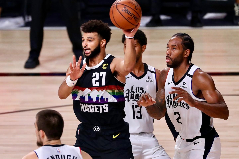 Jamal Murray in azione contro i Clippers