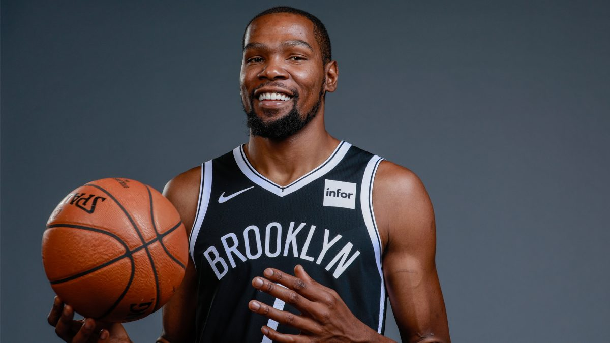 Kevin Durant in maglia Nets