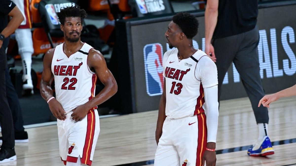 Adebayo e Butler con gli Heat