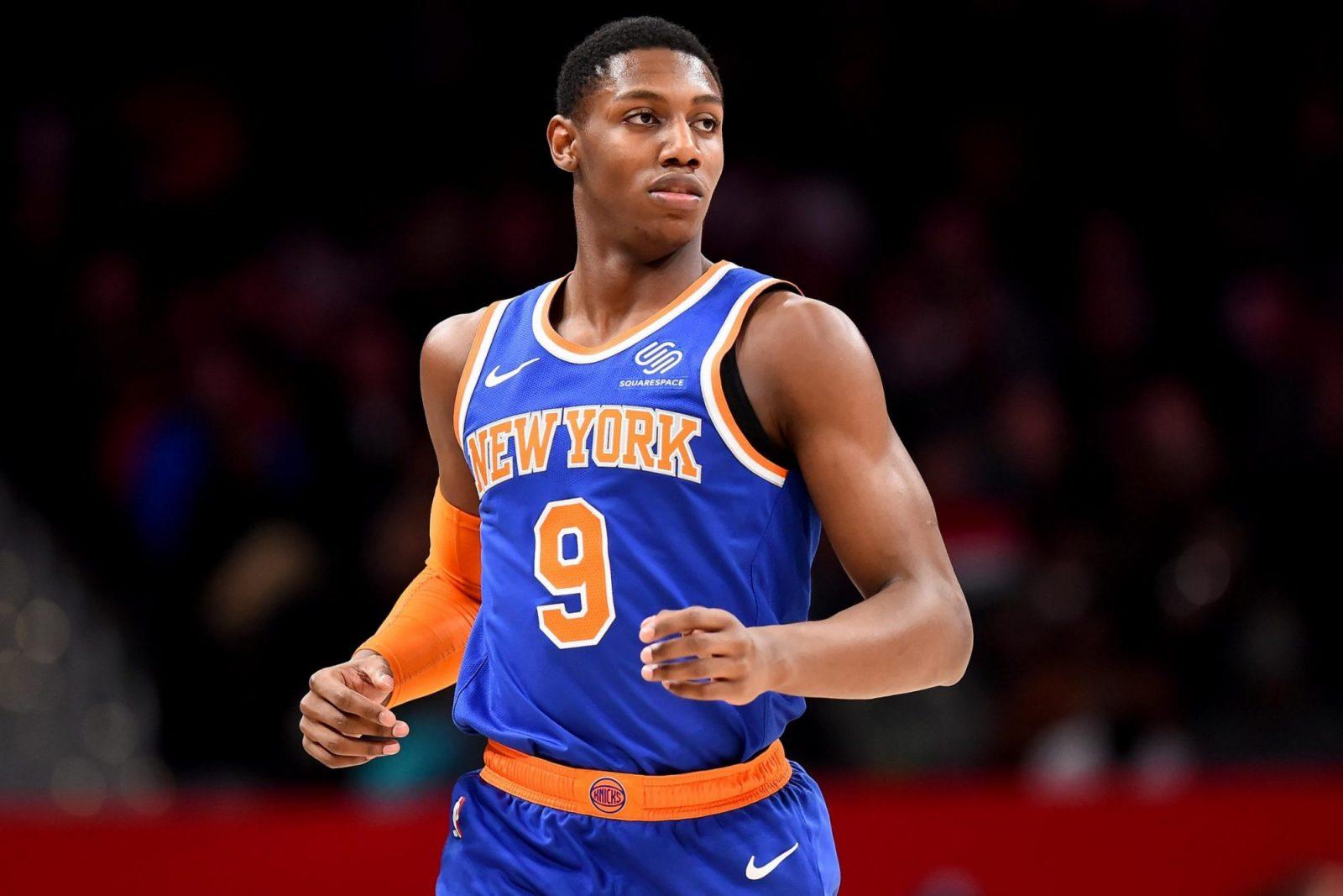 RJ Barrett con la maglia dei Knicks