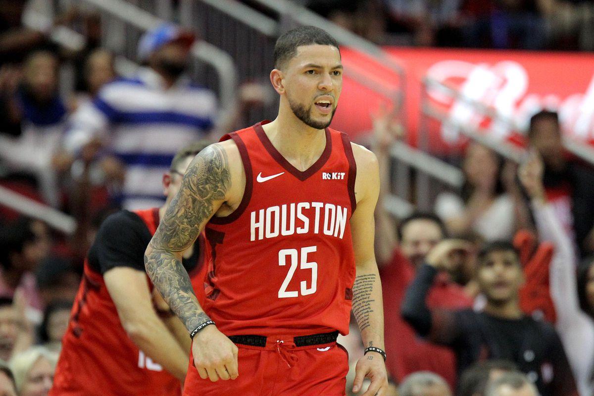 Austin Rivers con la maglia degli Houston Rockets