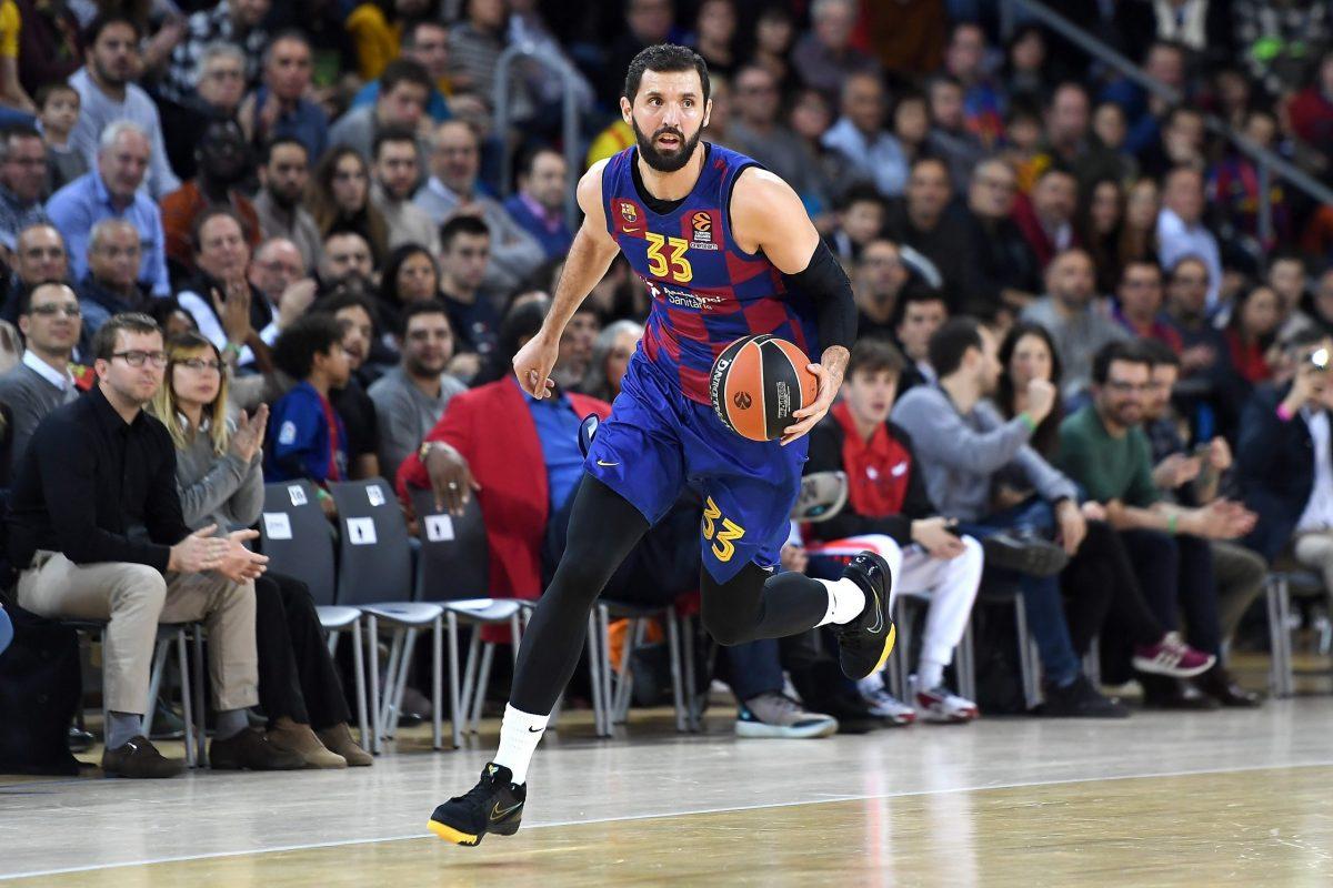 Nikola Mirotic con la maglia del Barcellona