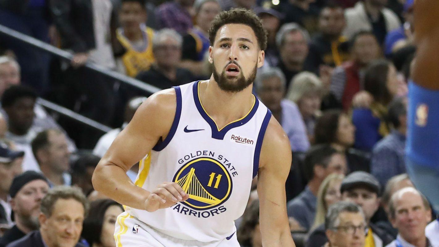 Thompson in azione con gli Warriors