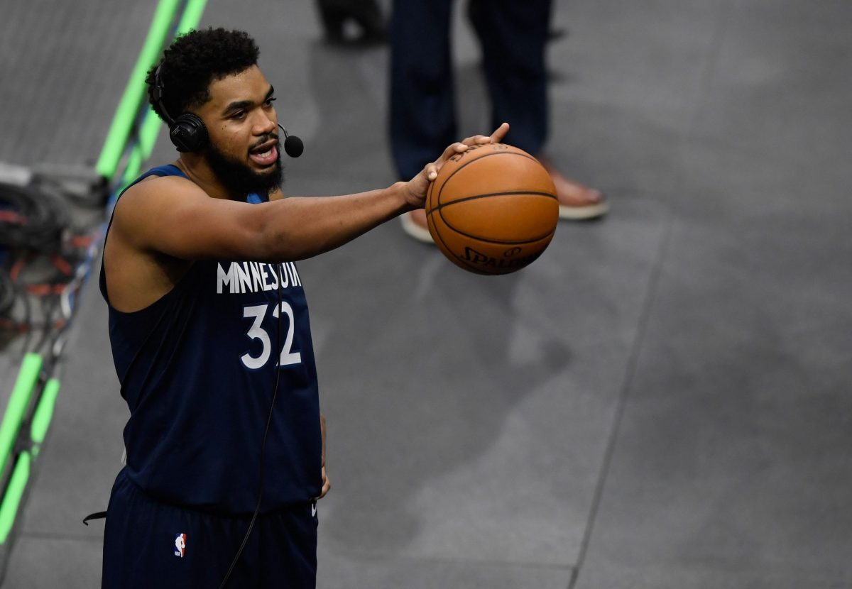 Karl-Anthony Towns in un post partita