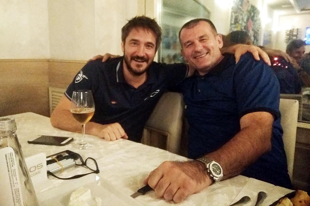 Zoran Savic e Gianmarco Pozzecco