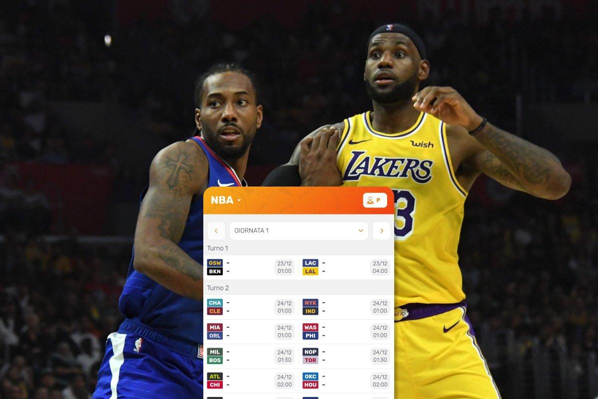 Il Calendario Dunkest NBA 2020/2021