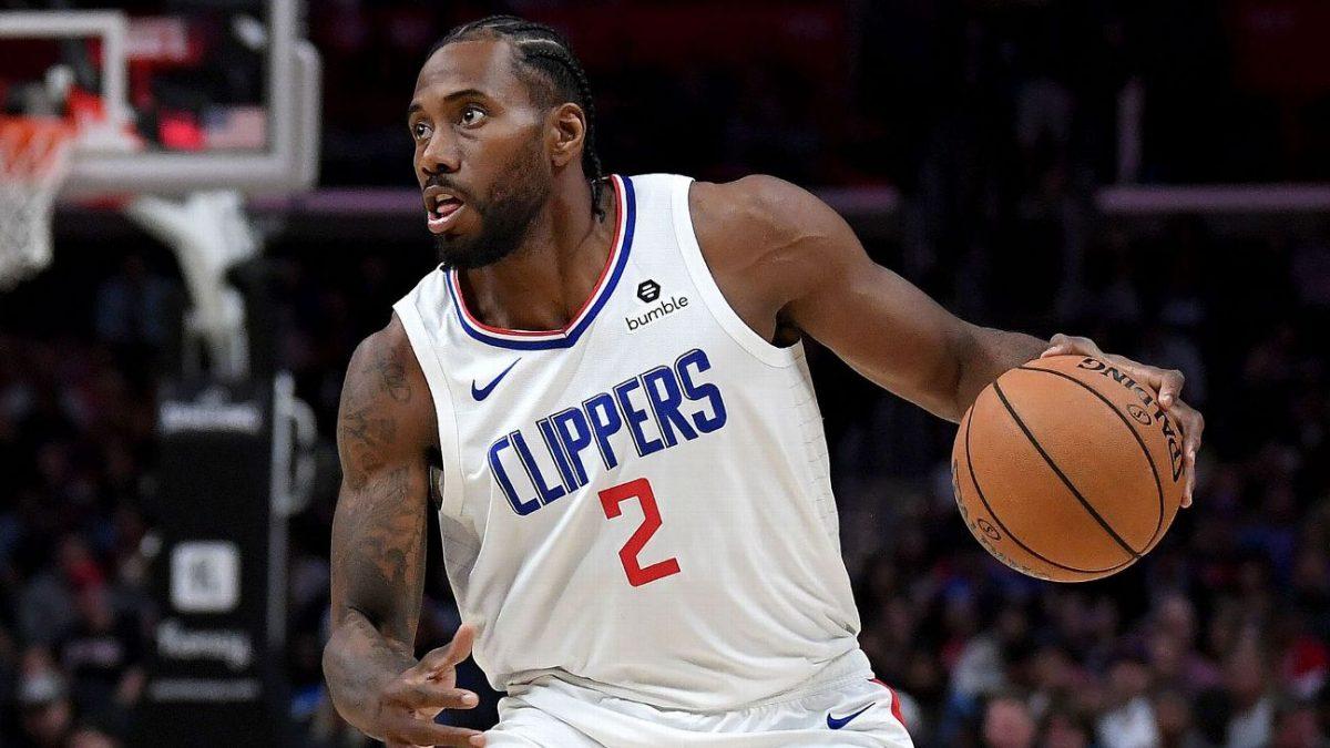 Kawhi Leonard in azione coi Los Angeles Clippers