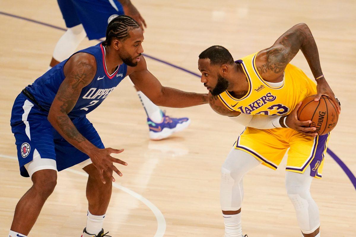 LeBron James contro Kawhi Leonard