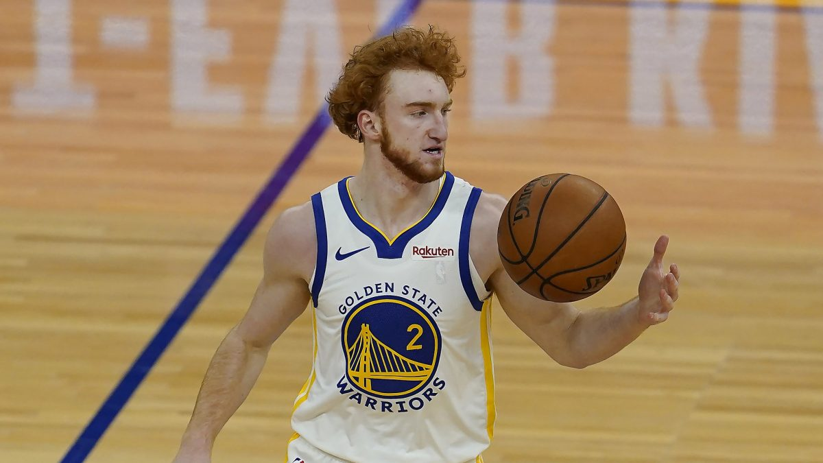 Nico Mannion in maglia Golden State Warriors