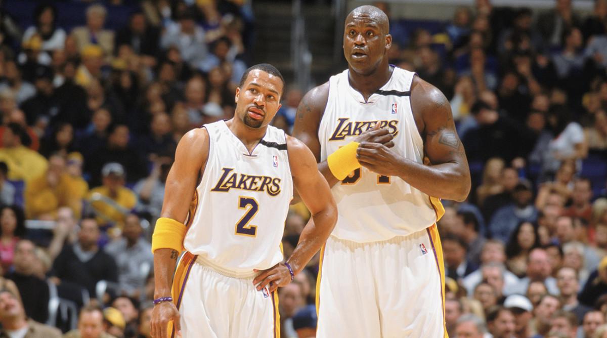 Derek Fisher con Shaq ai tempi dei Lakers