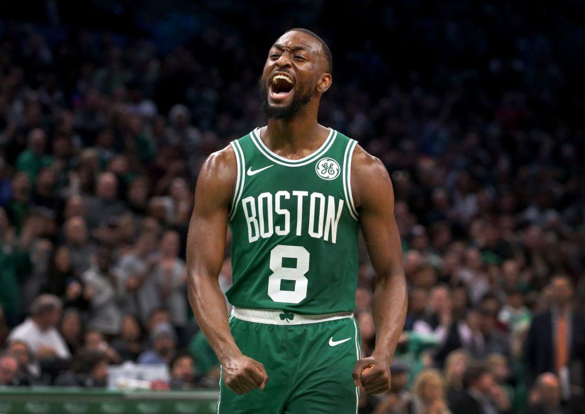 Kemba Walker esulta coi Celtics