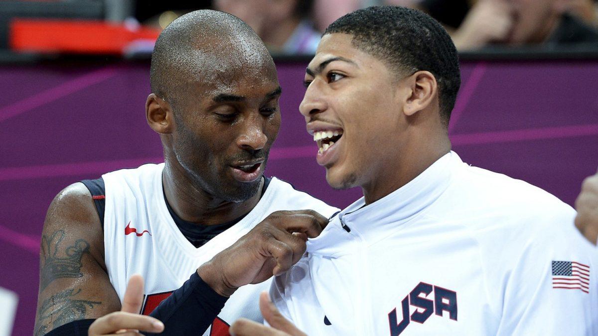 Kobe Bryant e Anthony Davis in maglia USA