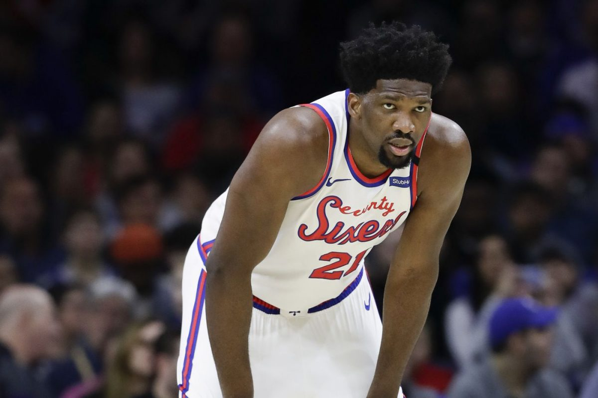 Joel Embiid in maglia Sixers