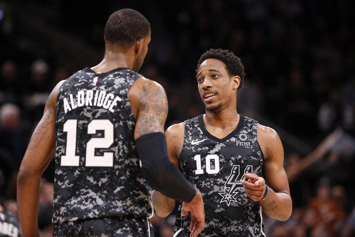 Aldridge e DeRozan in maglia Spurs