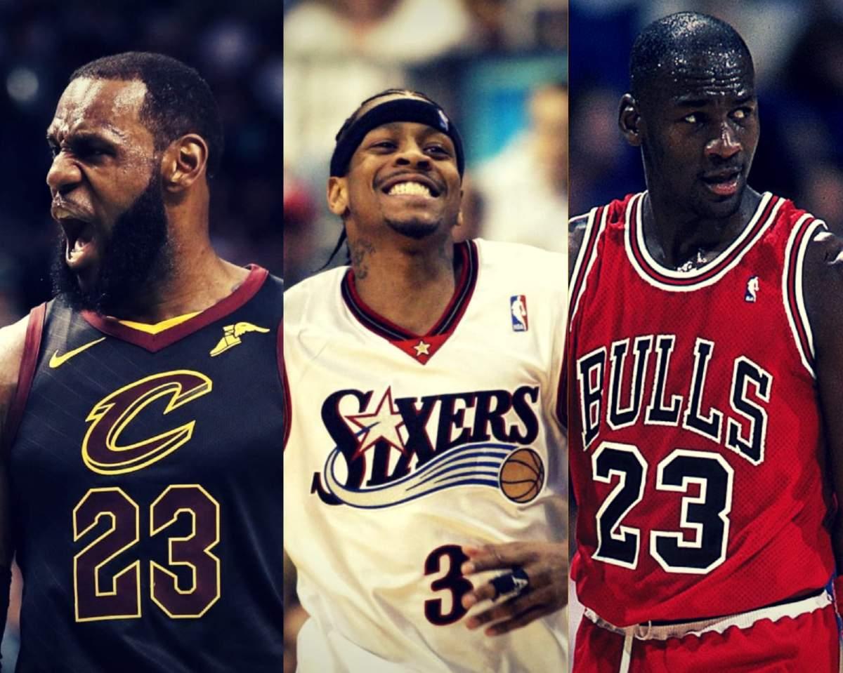 LeBron James, Allen Iverson e Michael Jordan