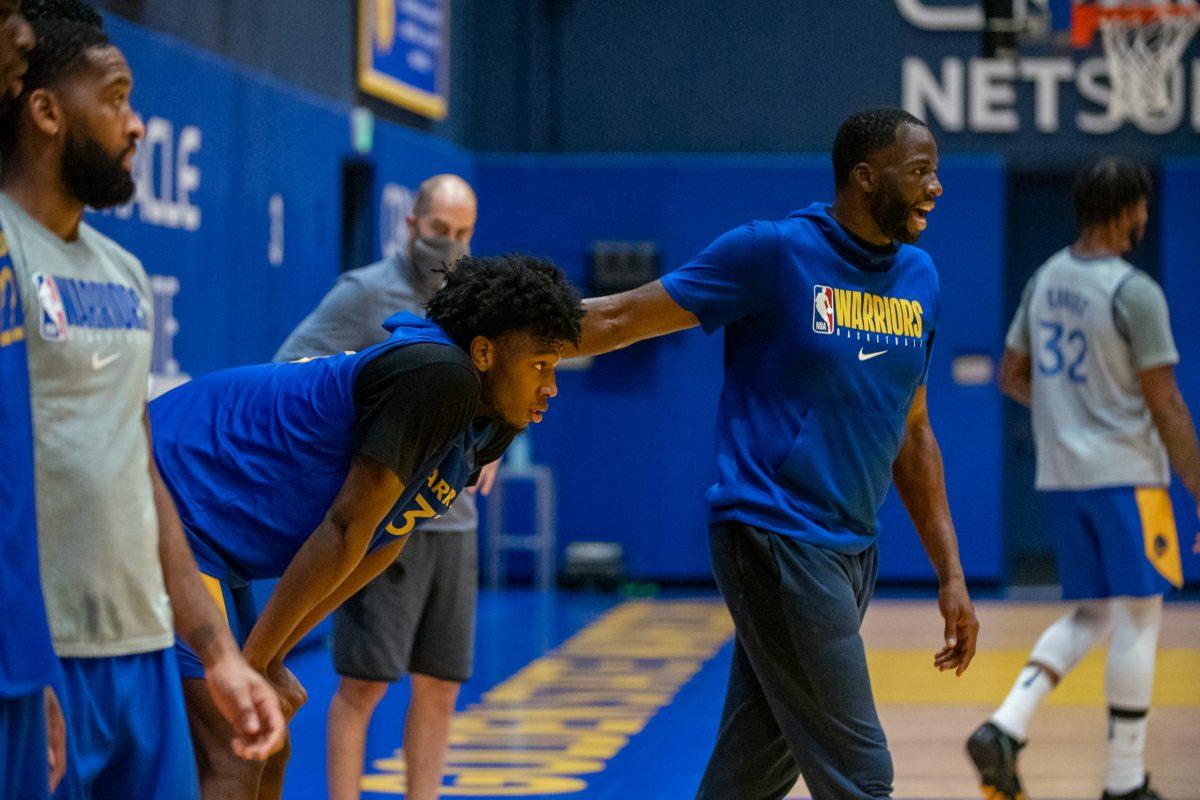 Il rookie e il veterano Green all'allenamento dei Warriors