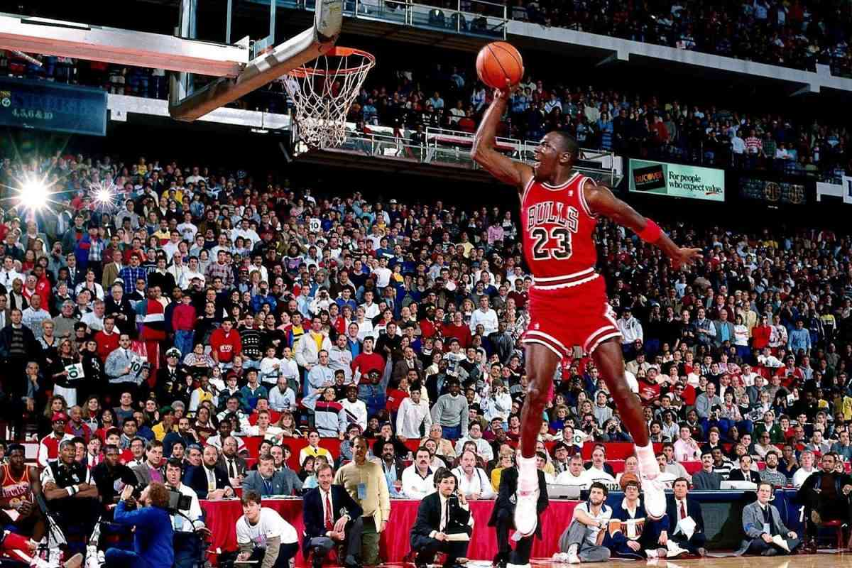 Jordan alla gara delle schiacciate