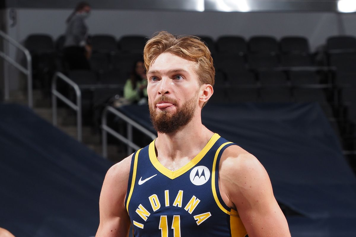 Domanats Sabonis in maglia Indiana Pacers
