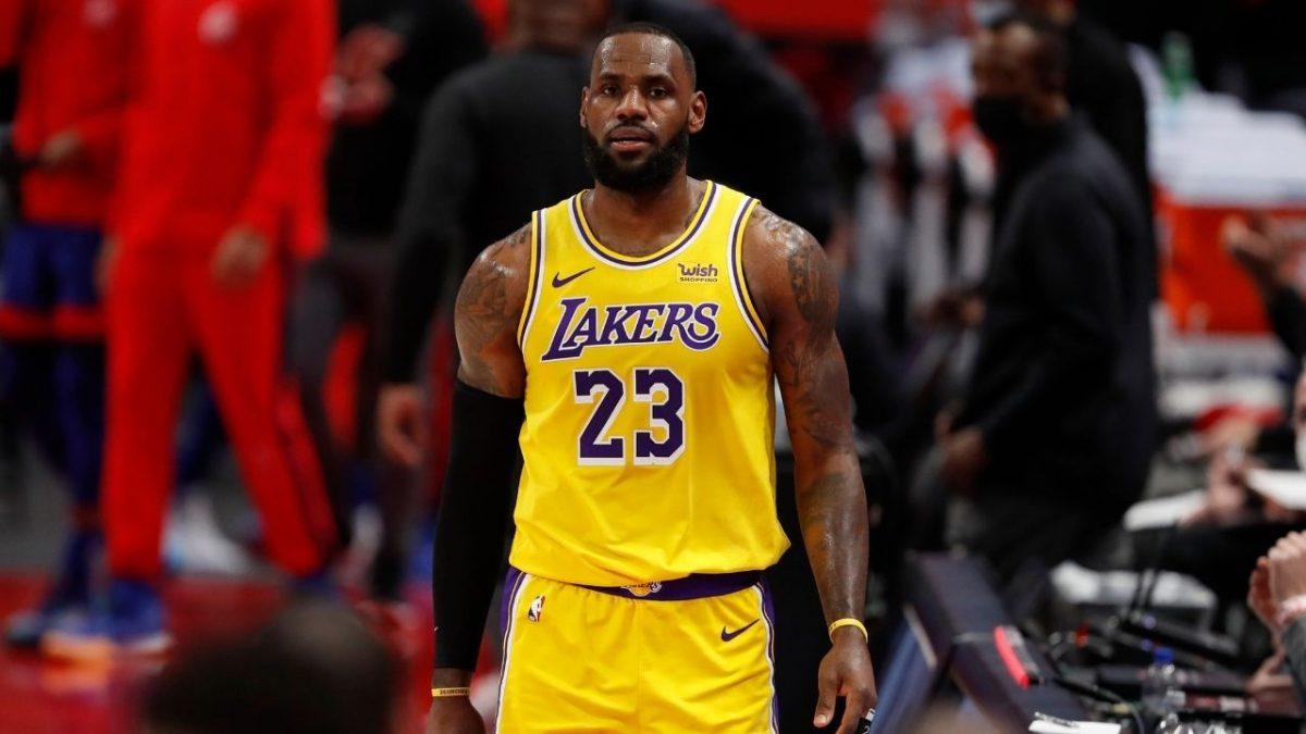 LeBron James contro i Pistons