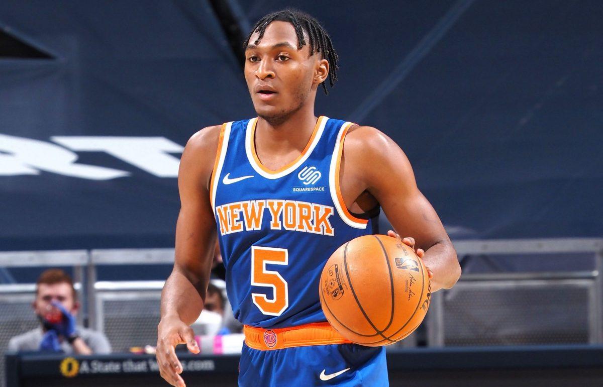 Immanuel Quickley con la maglia di New York