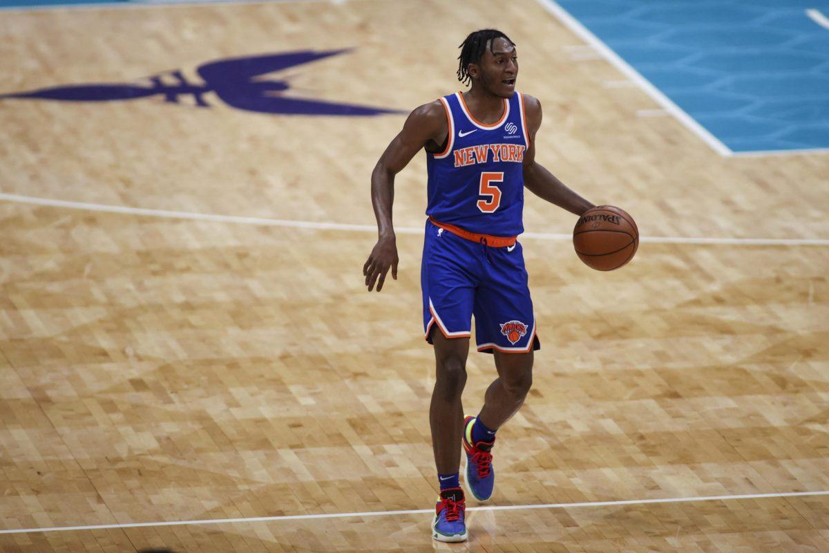 Immanuel Quickley in maglia Knicks