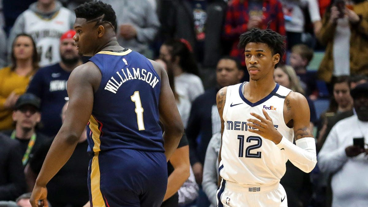 Zion e Morant durante una partita NBA