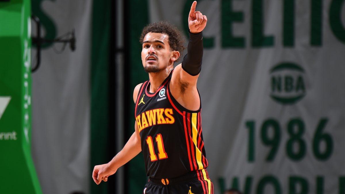 Trae Young in maglia Atlanta Hawks
