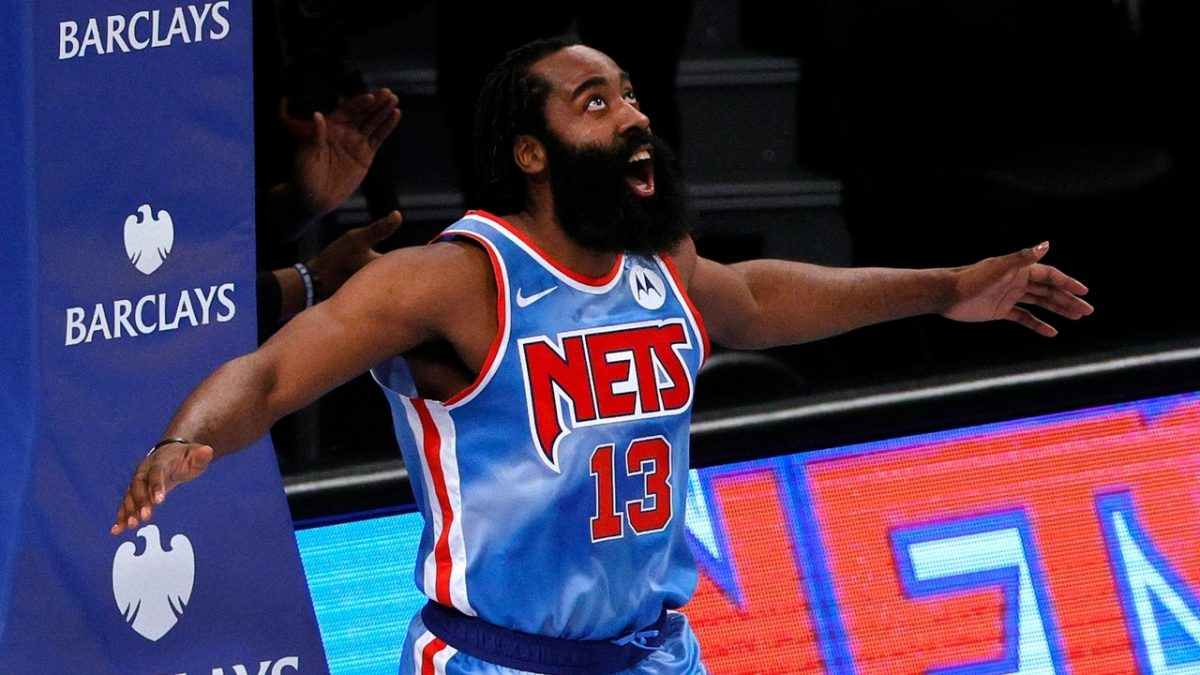 Harden in campo con i Nets
