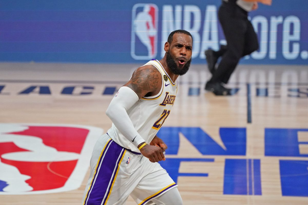 LeBron James durante una partita nella bolla di Orlando