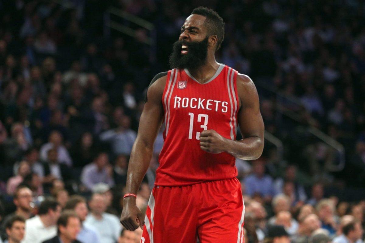 James Harden con la maglia degli Houston Rockets