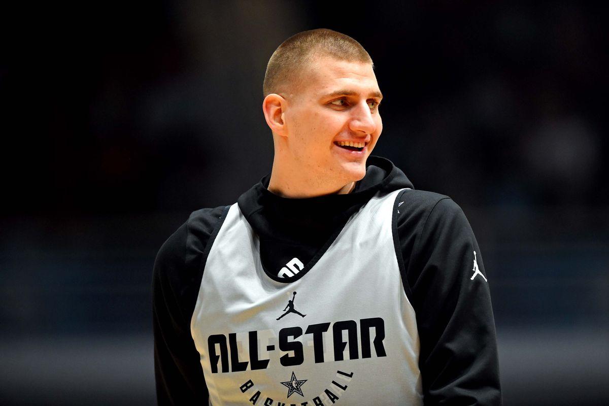 Nikola Jokic durante l'allenamento dell'All Star Game