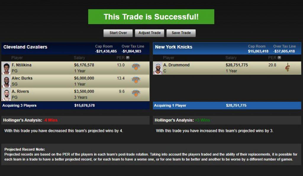 Trade per Drummond ai Knicks