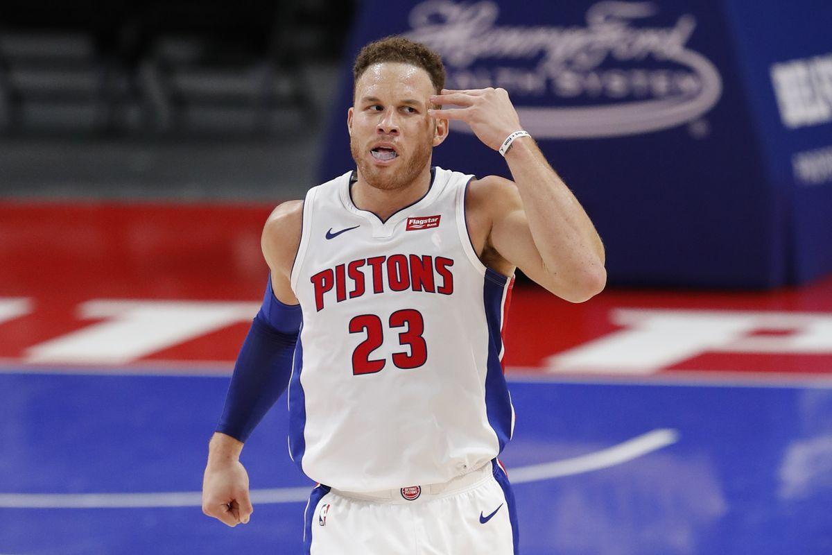 Griffin in maglia Pistons