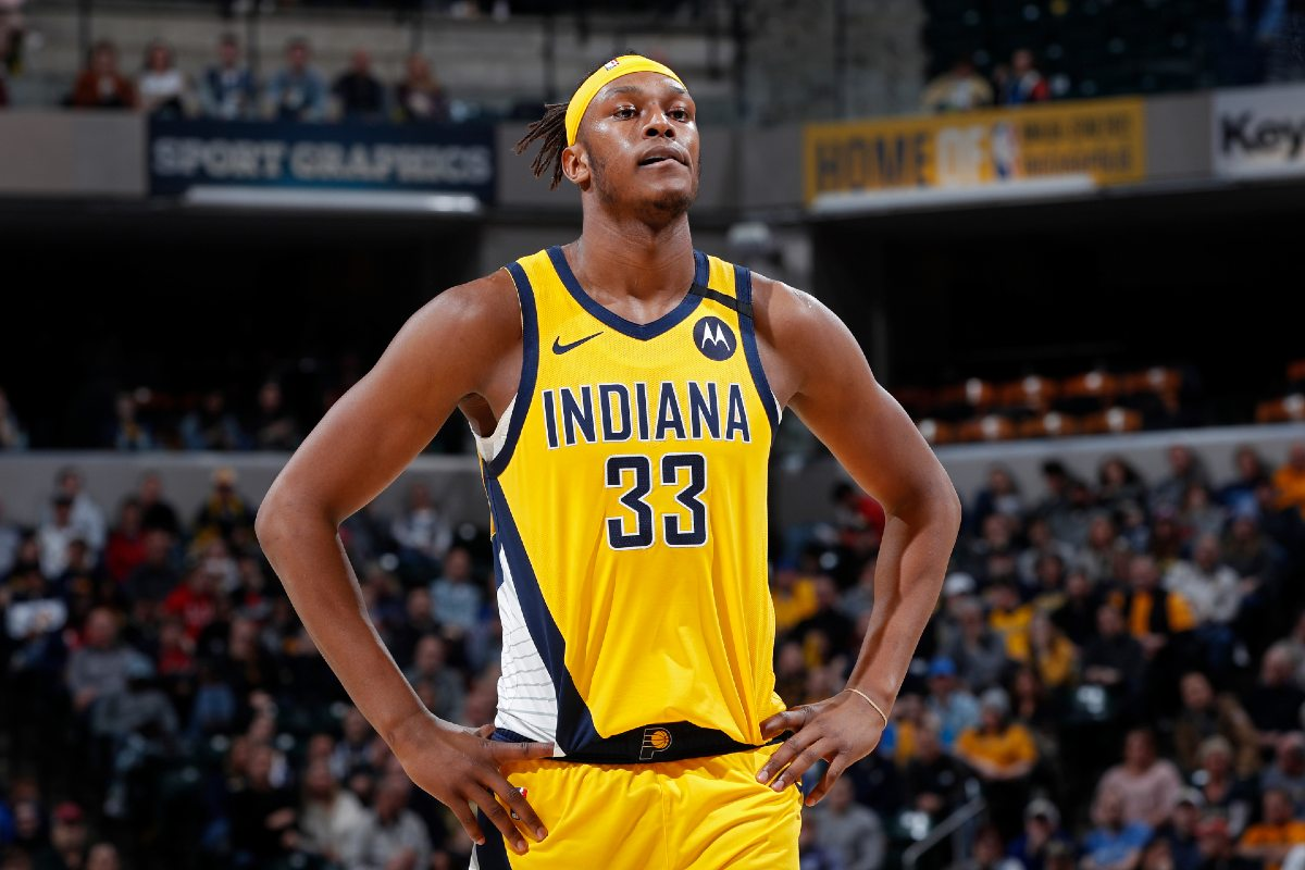 Myles Turner in maglia Pacers