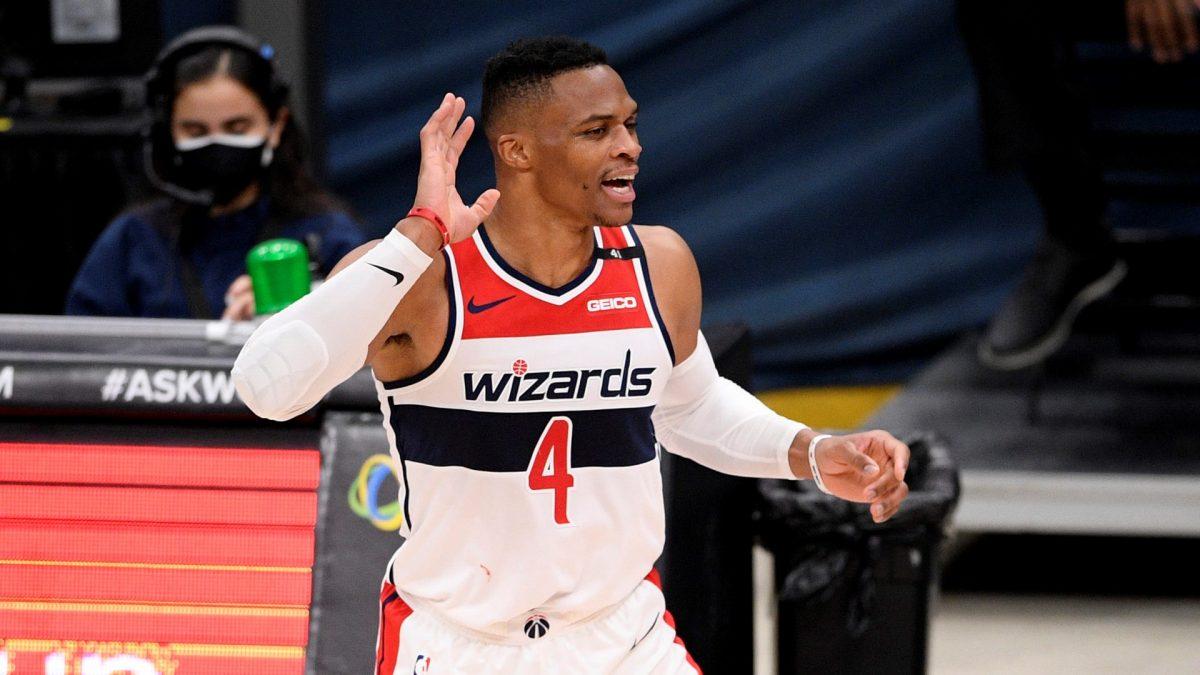 Westbrook esulta per i suoi Wizards