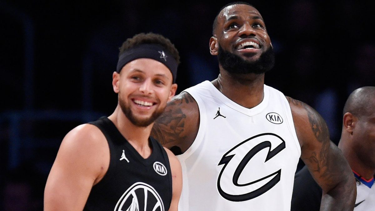 LeBron James e Stephen Curry all'All Star Game