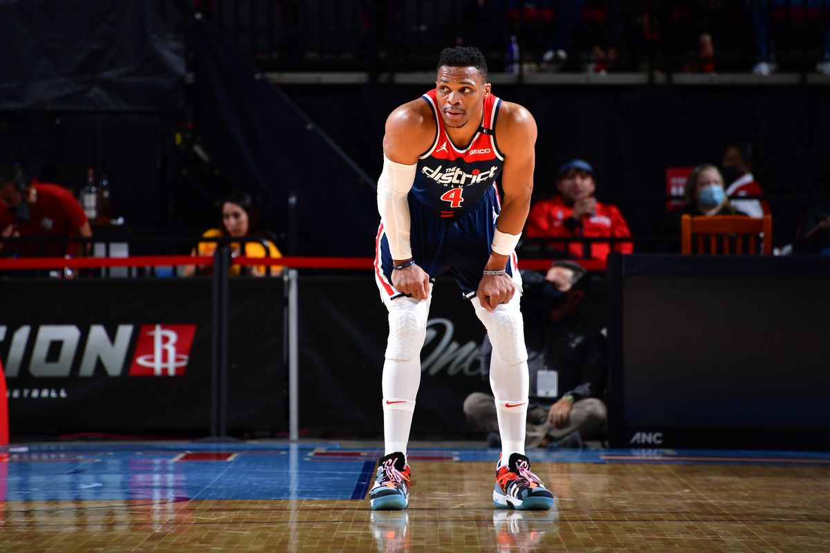 Russell Westbrook in maglia Wizards